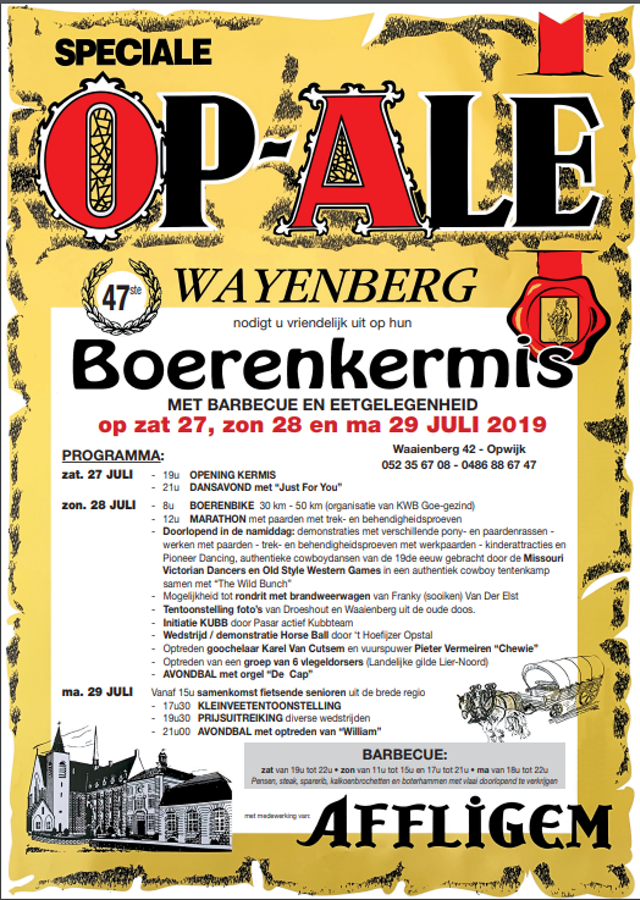 Affiche Wayenberg kermis